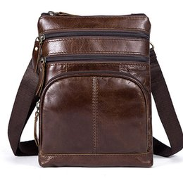Uniego Genuine Leather Men Shoulder Bag Casual Business Male Messenger Bag  High Quality Men Crossbody Travel Bags HB145 4330375ef0
