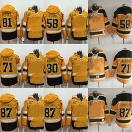c86859688 87 Sidney Crosby Hockey Hoodie Sweatshirts 58 Kris Letang 81 Phil Kessel 30 Matt  Murray 71 Evgeni Malkin Pullover Hoodies Jerseys