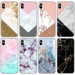 019f7f73ec5 TPU Carcasa transparente para Apple iPhone 5 5S SE 6 6S 7 8 Plus X patrón  de piedra de mármol impresión Gel de silicona suave Volver estuches  Cubierta + ...