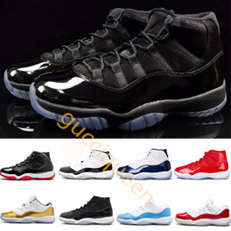 outlet store ab3c4 3ebba Cap und Gown 11 XI 11s Heiress schwarz Stingray Gym rot Chicago Midnight  Navy Space Jams Männer Basketball Schuhe Sport Sneakers 5.5-13