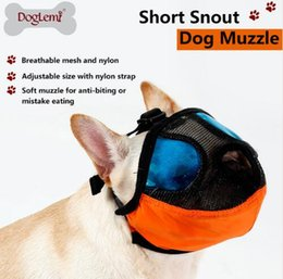 Discount free shoe ornaments - Free Shipping Breathable Dog Muzzle For Dog Nylon Mask Bark Mesh Pet Dog Muzzle Comfortable Adjustable New Design Groomi