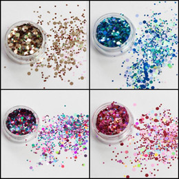 wholesale glitter pots Canada - Chunky Mixed Glitter Pot-Nail Face Eye Body Tattoo Festival Dance Club Cosmetic