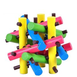 Learning wooden toys online shopping - Wooden Decompression Toys Child Kid Solid Wood Intelligence Developmental Learning Education Adult Kong Ming Lock Hot Sale hr V