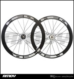 Bicycling Gear Australia - 25mm width 50mm high HED paint fixed gear carbon wheelset full carbon 700C road track bike bicycle wheelswheels