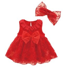 7f9e7f1e Sweet Summer Toddler Baby Girls Dress Floral Lace Big Bowknot Princess Birthday  Party Casual Newborn Dress+1pcs Headband 0-12M