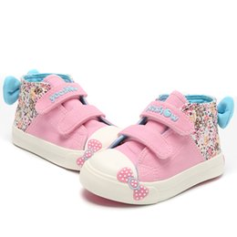 $enCountryForm.capitalKeyWord Australia - Canvas Children Sneakers 2018 Bowknot Girls Princess Shoes Denim Kids Sneakers Floral Flat Boots for Girls Baby Toddler Shoes