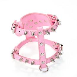 China Dog Harness Collar Fashion Rivet Pet Vest Multi Color PU Puppy Cat Chest Straps 16 5wn C R cheap wholesale harness bells suppliers