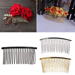 Comb Clips metal online shopping - DIY Blank Metal Hair Clips Wedding Veil Side Comb Teeth Bridal Hair Accessories