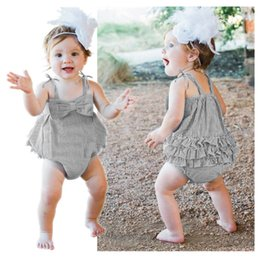a0635c5deba 2018 Summer Baby Striped Rompers INS Infant Bandage Bowknot Jumpsuits New Fashion  Kids Boutique Romper Climbing Clothing