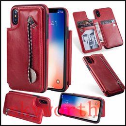 SamSung galaxy note magnetic wallet online shopping - Multifunctional Card Slots Wallet Flip Leather Cases For iphone X XS XR Max Plus Samsung Galaxy S8 S9 Plus Note9 Magnetic Detachable