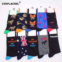 c5c4f06b7 Happy Cactus Penguin Cherry National Flag Funny Socks Art Creative Pattern  Wedding Socks Men Harajuku Business Calcetines Hombre