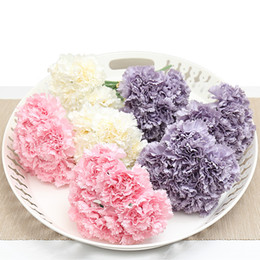 $enCountryForm.capitalKeyWord Canada - Artificial Flowers Slik Carnations Floral Bride Bouquet Home Wedding Decoration Scrapbooking Wreath Mother's Day Gift Flower