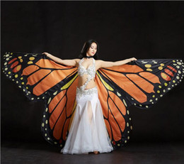 Wholesale arab women costume for sale - Group buy 360 open isis butterfly wings cape performance props arab egypt costume accessory phase colored ball