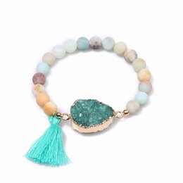 $enCountryForm.capitalKeyWord NZ - Fashion Natural Crystal Raw Stone Jewelry Volcanic Rocks Elastic Bracelet Yoga Bracelet For Neutral Pulseira Homens,Gifts