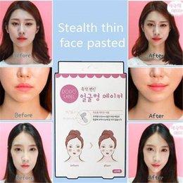 Ingrosso Patch di sollevamento viso adesivo artefatto invisibile ascensore mento sottile volto adesivo nastro make-up strumenti di sollevamento viso 40 pz / scatola BT028