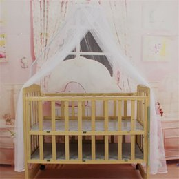 Discount toddler mosquito net - New Mosquito Bar Nursery Baby Cot Bed Toddler Bed Or Crib Canopy Home Mother Mosquito Net White P0.21