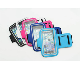 Wholesale 4 Inch Inch Waterproof Sports Running Mobile Phone Arm Bag Armband Case Workout Armband Holder Pounch For Apple Samsung MPAB