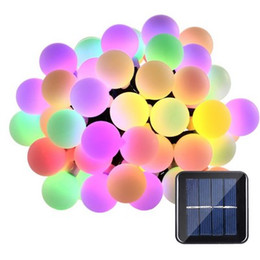 solar power lawn lights Australia - Solar Powered Globes 5M 50 LED Ball Lights String Lights Solar Powered Patio Lights Christmas Light Home Lighting Garden Lawn Evening Access