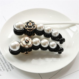 Discount roses for hair - Fashion C Pearls Hair Claw Hairpin For Ladys Accessories Pretty Hairpins Rose Collection Clips Banana Shape Exquisite 6