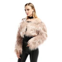 $enCountryForm.capitalKeyWord Australia - 2018 New Off Shoulder Short Plush Faux Fur Jacket Europe Fashion Women Long Sleeve Faux Fur Coat Hairy Sexy Overcoat