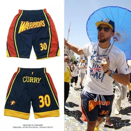 Discount camp pants - 2018 Curry parade with shorts men's basketball pants retro hip hop breathable and quick-drying pants