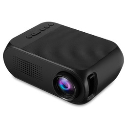 Laptop Hdmi Input Australia - YG-320 Mini Projector Portable 1080P LED Projector Indoor Outdoor Pocket Movie Projectors Support Laptop PC Smartphone HDMI Input Great Gift