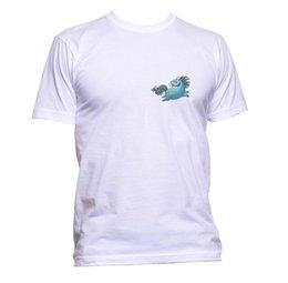 Bonito Unicórnio Azul Colorido Animal Bolso T-Shirt Das Mulheres Dos Homens Unisex Presente Da Forma venda por atacado
