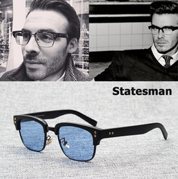 Ingrosso JackJad 2017 New Fashion The Statesman Beckham Occhiali da sole Montatura da vista Vintage Brand Design Miopia Ottico Oculos De Grau Sol