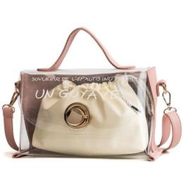 8e6f8aec4c1 Famous Brand Luxury Women Handbags Female Jelly Transparent Candy Women  Bags Shoulder package composite bags