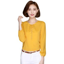 6c4897b6ff4 2017 New Fashion Autumn Women Casual Blouses Long Sleeve Chiffon Blouse  Shirt Korean Loose Elegant Ladies Blusas Tops