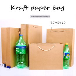 $enCountryForm.capitalKeyWord UK - 30*40cm+10cm Portable Thicken solid Kraft paper Custom-made clothing gift shopping package Takeaway Corporate advertising Standing bag