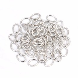 $enCountryForm.capitalKeyWord NZ - XINYAO 200pcs bag 5x7mm Metal Oval Open Jump Rings KC Gold Silver Color Split Rings Connectors for DIY Jewelry Making F5358