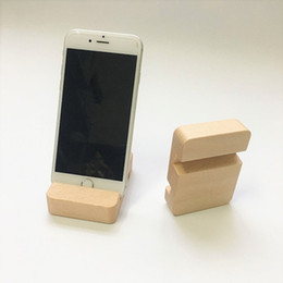 Wholesale Beech Wood Phone Stand Holder For iPhone s Plus Mobile Phone Stand Universal Wooden Stand Holder For iPhone s LZ1608