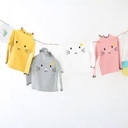 935350305 Factory direct sale autumn new children's wear T-shirt, girl's Korean  embroidered cotton long sleeved primer coat
