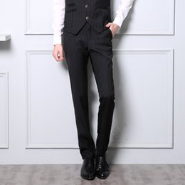 young clothes 2019 - 2017 Fashion Trend Gentleman Style Autumn And Winter New Clothes Slim Trousers Young Men Business Suits Pants Casual Sui