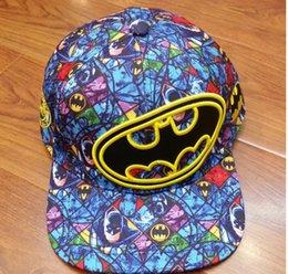 hip hop cap snapback batman 2019 - Mens Womens MARVEL Batman Baseball Caps Snapback Hat adjustable Hat Hip Hop Hats