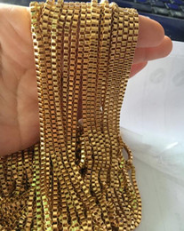 gold mark fashion NZ - GNAYY wholesale Jewelry fingings 3meter lot in bulk stainless steel Fashion gold Box Link chain jewelry marking DIY 2.4mm