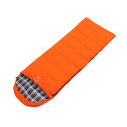 Outdoor Lazy Bag UK - Envelope Outdoor Camping Sleeping Bag Flannel Cotton Keep Warm Outdoor Sports Splicing Waterproof Lazy Bag Sleeping Bags CK208G