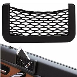 Discount net phone - Car Net Phone Storage Organizer Pockets Car Back Rear Trunk Seat Elastic String Net Mesh Storage Bag Pocket Cage