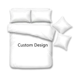 customized bedding sets Australia - High Quality 3D Digital Printing Custom Bedding Set Design Picture Cartoon People Animal Plaid Customize