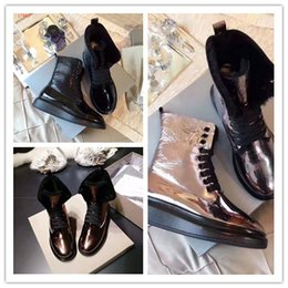 Discount studded winter boots - Lovers designer winter bottines famous luxury brand casual shoes top quality fashion studded Metal decoration lovers com