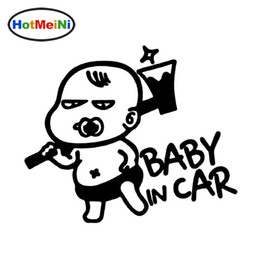 baby board sticker car Canada - Wholesale Car Styling Interesting Cartoon BABY ON BOARD Baby In The Car Stickers Warning Vinyl Decoration