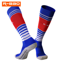 Chinese  Brand 2018 New Striped Football Socks Teenagers Knee-high Soccer Socks Breathable Training Terry Sports Socks For 8-13 Year-old Boy Girls manufacturers