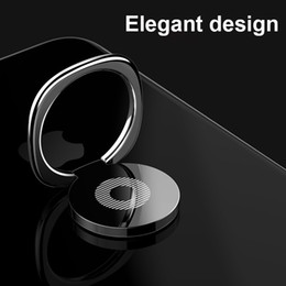 smartphone gold NZ - Finger Ring Holder Luxury 360 Degree Magnetic Metal Smartphone Mobile Phone Finger Stand Holder Black Silver Gold OEM Picture
