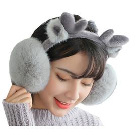e9cd00dd0bb New Fashion Cute Deer Design Plush Earmuffs Comfortable Warm Big Earmuff  Female Winter Outdoor Protect Ears Winter Accessories