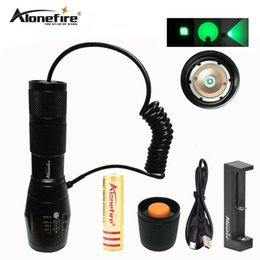 Chinese  AloneFire E17 Waterproof Green Cree LED Outdoor Light Kit with Remote Pressure Switch Scope Bike Mount Holder For 1X18650 battery manufacturers