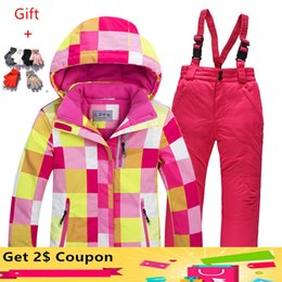 $enCountryForm.capitalKeyWord Australia - 2017 Children Ski Suit Set Thickening Waterproof Teenage Girl Boy Cold-proof Outdoor Clothes Windproof Winter Suits For Kids
