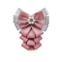 $enCountryForm.capitalKeyWord UK - Pure cotton Ribbon Handmade Make Bow Brooches Pins Hot Sale Bowknot Trendy Cloth Clip Charm Women Tie Bow Brooches-231