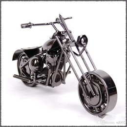 Discount wholesale wood carving china - Iron Art Motorcycle Home Decor Handmade Motorbike Office Arts Ornament Crafts Decoration Retro Style Hot Sale 10 5lc ii