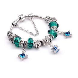 $enCountryForm.capitalKeyWord NZ - Wholesale- Hot Beads Bracelet DIY Crystal Crown Bangle Silver Jewelry custom design bear bracelet bangle, please select the design number